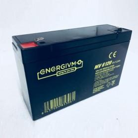 Bateria ENERGIVM AGM MV6120 6V 12Ah