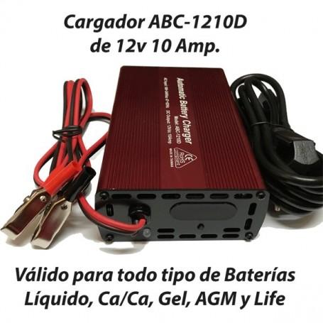 Cargador Baterías Alta Frecuencia ABC1210 10AH