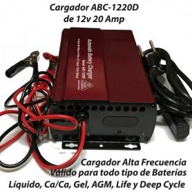 Cargador Baterías Alta Descarga ABC1220 20AH