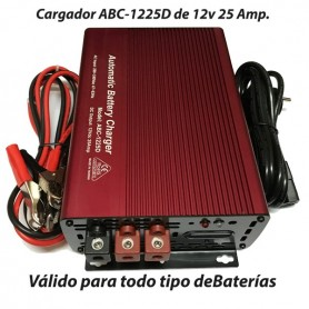 Cargador Baterías Alta Frecuencia ABC1225 25AH