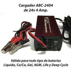 Cargador Baterías Alta Frecuencia ABC2404 4AH