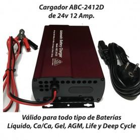 Cargador Baterías Frecuencia ABC2412 12AH