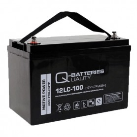 Batería Solar Q Batteries Agm 12LCP100 12V 107AH