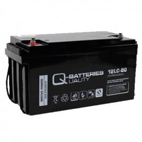 Batería Solar Q batteries Agm 12LCP80 12V 80AH