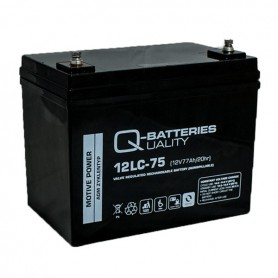 Batería Solar Q Batteries Agm 12LCP75 12V 77AH
