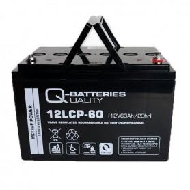 Batería Solar Q Batteries Agm 12LCP60 12V 63AH