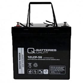 Batería Solar Q Batteries Agm 12LCP56 12V 56AH