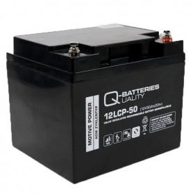 Batería Solar Q Batteries Agm 12LCP50 12V 50AH