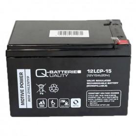 Batería Solar Q Batteries Agm 12LCP15 12V 15AH