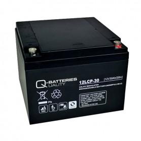 Batería Solar Q Batteries Agm 12LCP30 12V 30AH