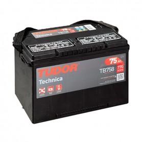 Batería Coche Tudor TB758 12V 75Ah