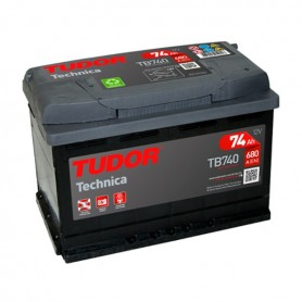 Batería Coche Tudor TB740 12V 74Ah