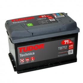 Batería Coche Tudor TB712 12V 70Ah