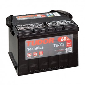 Batería Coche Tudor TB608 12V 60Ah