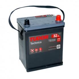 Batería Coche Tudor TB320 12V 32 Ah