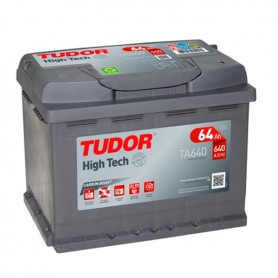 Batería Coche Tudor TA640 12V 64Ah