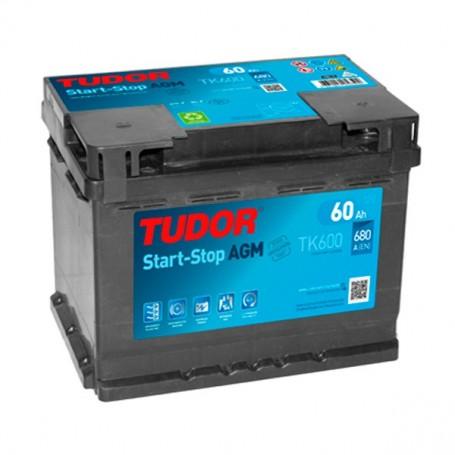 Batería Coche Tudor Agm TK600 12V 60Ah