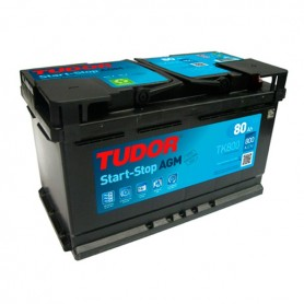 Batería Coche Tudor Agm TK800 12V 80Ah