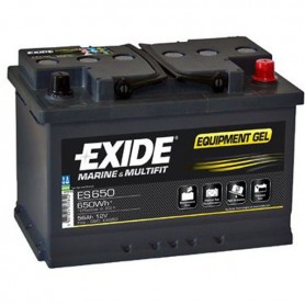 Batería Gel Exide ES650 12V 56Ah