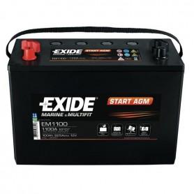 Batería Arranque Agm Exide EM1100 12V 100Ah