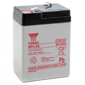 Batería Agm YUASA NP4-6 6V 4Ah