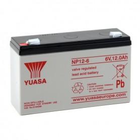 Batería Agm YUASA NP12-6 6V 12Ah