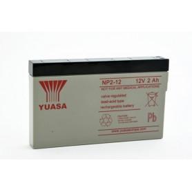Bateria Agm YUASA NP2-12 12V 2Ah