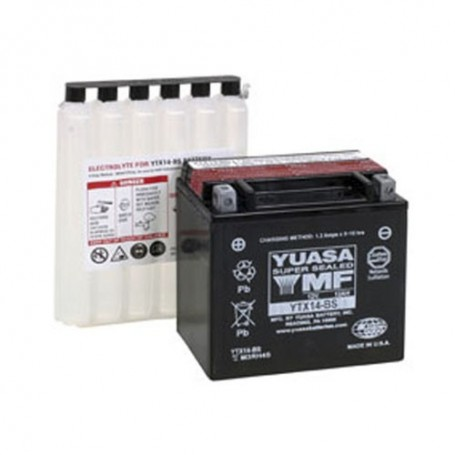 Batería Moto Yuasa Agm YTX14BS 12V 12Ah