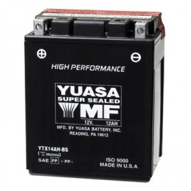 Batería Moto Yuasa Agm YTX14AHBS 12V 12Ah