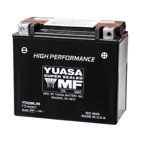 Batería Moto Yuasa Agm YTX20HLBS 12V 18Ah