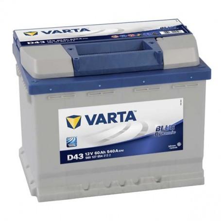 Batería Coche VARTA D43 12V 60Ah