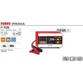 Cargador Baterías Ferve F705 9-45Ah 6-12V