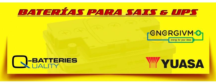 Comprar Baterías para Sais & Ups Yuasa y EnergyVm Agm en Barcelona.