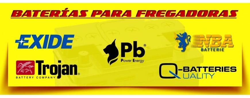 Comprar Baterías para Fregadoras y Barredoras Industriales en Barcelona. Baterías de 12 Voltios.