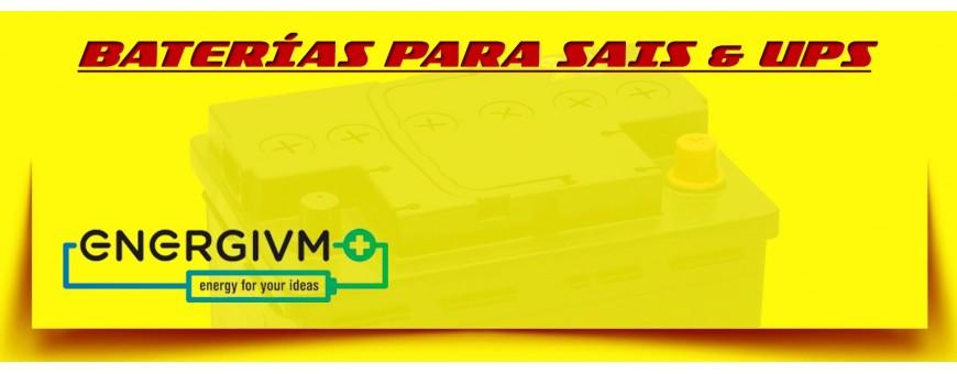 Comprar Baterías Agm Cíclicas Energivm para Sais & Ups en Barcelona