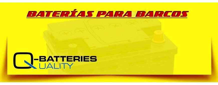 Comprar Baterías Q-Batteries Cíclicas Agm/Gel para Lanchas, Barcos y Veleros en Barcelona