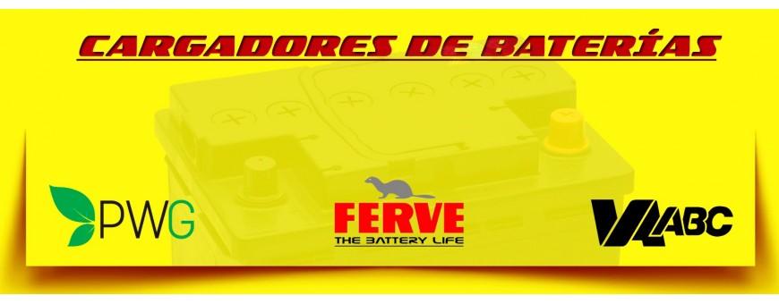 Comprar Cargadores para Baterías en Barcelona. Cargadores de 12, 24, 36, 48 y 72 Voltios.