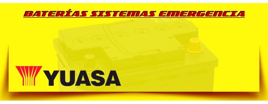 Baterías de Emergencia Yuasa. Comprar Baterías de Agm en Barcelona