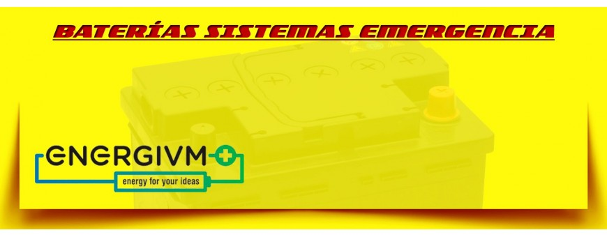 Baterías de Emergencia. Comprar Baterías Energivm de Agm en Barcelona