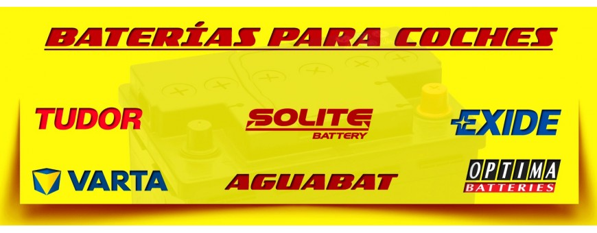 Comprar Baterías Baratas Coche y Carro en Barcelona. Baterías Exide, Solite, Varta Yudor y Optima
