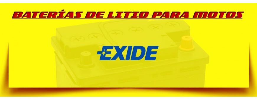 Tienda de Baterías Exide Litio Ion para Motos en Barcelona. Montaje Gratuito.