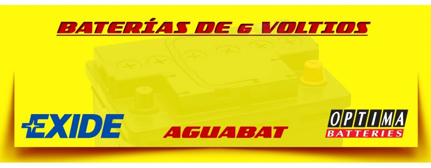 Comprar Baterías para Coches Clásicos Aguabat, Exide, Optima de 50, 80, 140, y 260 amperios.