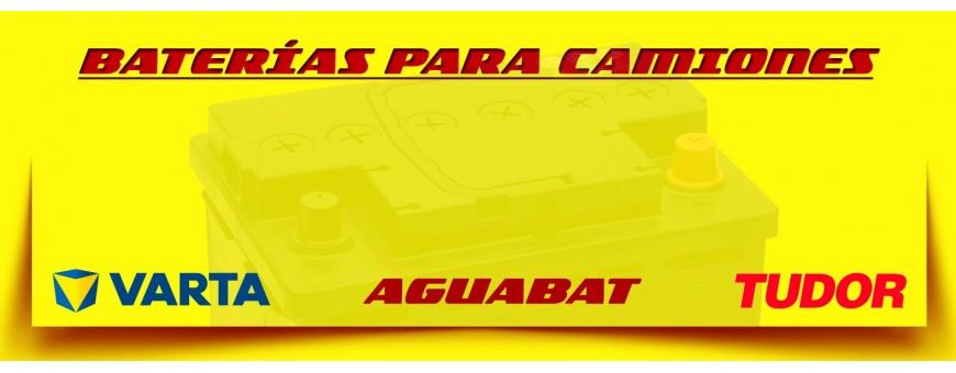 Comprar Baterías para Camión en Barcelona. Baterías de 12 Voltios Aguabat, Tudor y Varta.