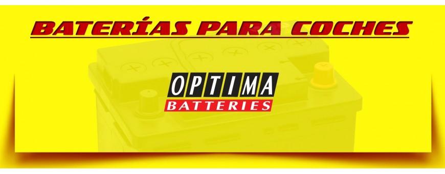 Comprar Baterías de Coche Optima amarillas en Barcelona. Baterías agm de 55ah y 75ah.