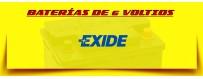 Comprar Baterías Exide de 6 voltios. Baterías de Arranque para Coches Clásicos a Domicilio