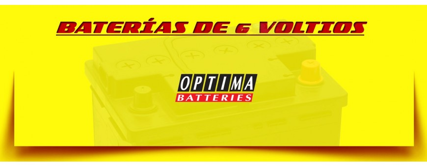 Baterías Optima Rojas y Amarillas para Coches Clásicos. Comprar Baterías de 6 voltios.