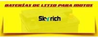 Comprar Baterías de Litio para Moto en Barcelona. Precio Baterías Skyrich Litio 12 Voltios.