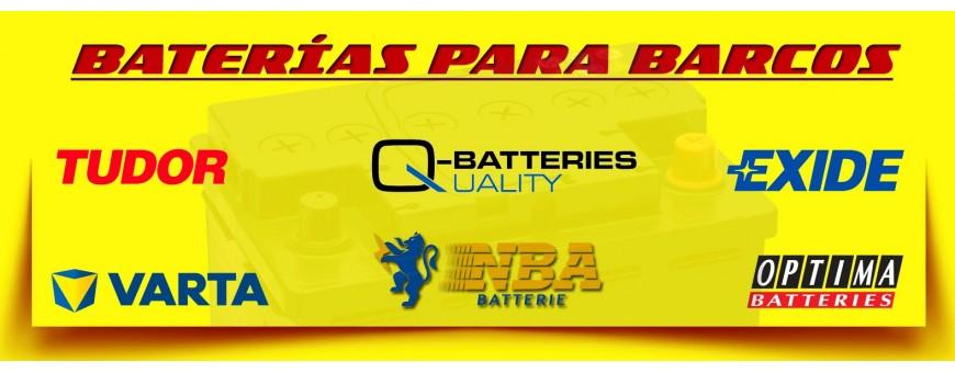 Comprar Baterías para Lanchas, Barcos y Veleros en Barcelona. Tienda de Baterías 12 Voltios.