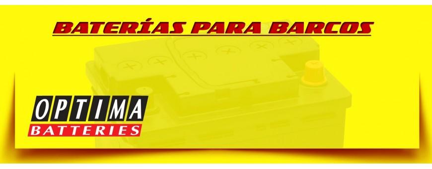Optima Batterias España. Comprar Baterías Optima 12 Voltios para Lanchas, Barcos y Veleros.