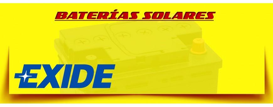 Comprar Baterías Exide Cíclicas para Instalaciones Solares en Barcelona.